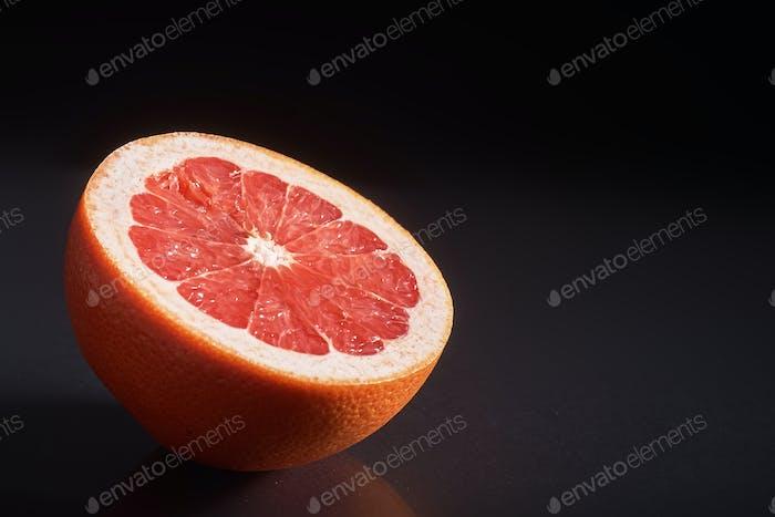 Grapefruit isolated on a black background