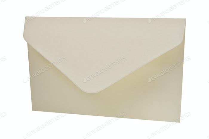 White envelope on a white background