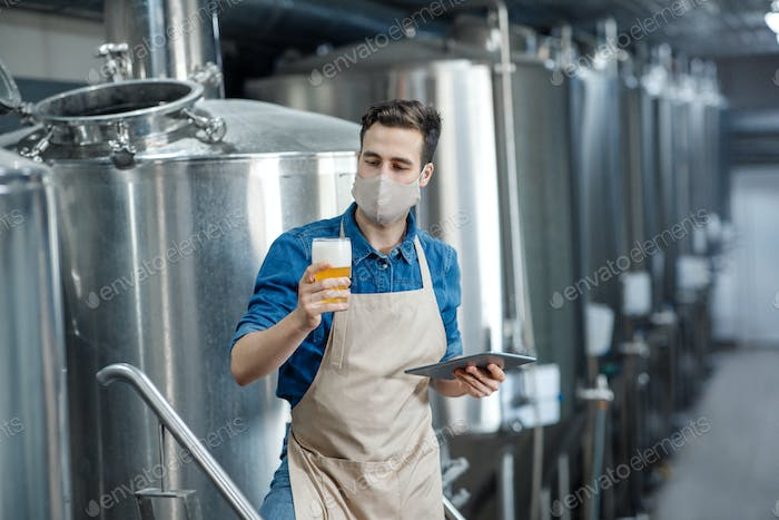 Product quality and beer production in brewery