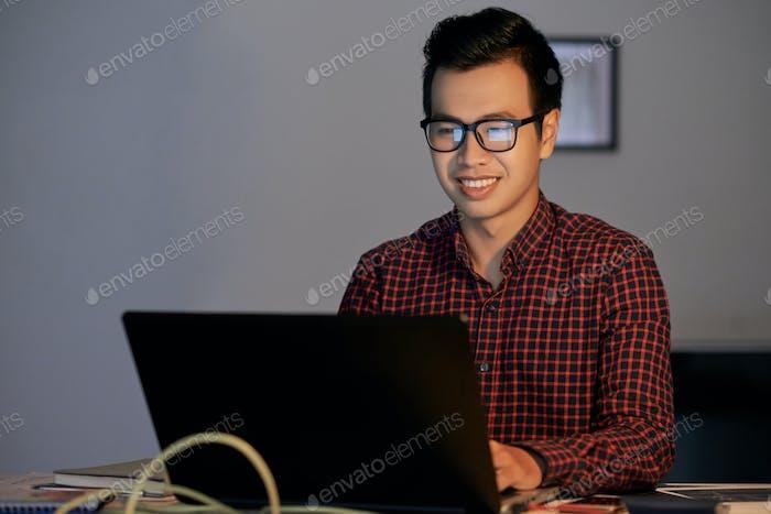 Checking e-mails
