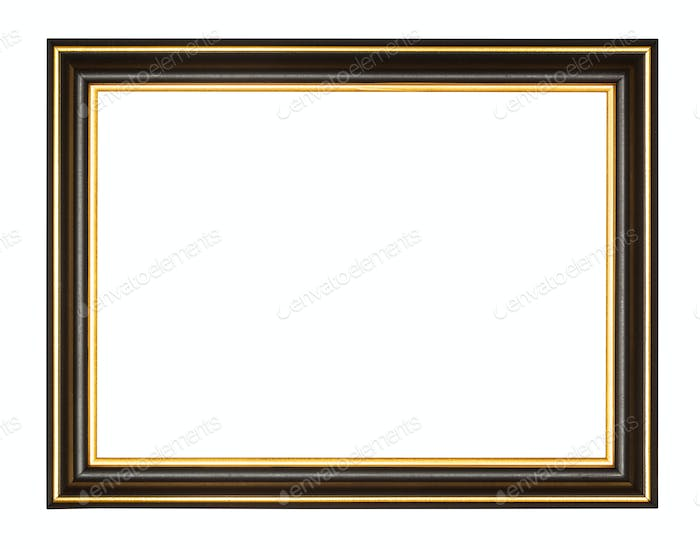 empty black and gold wooden picture frame