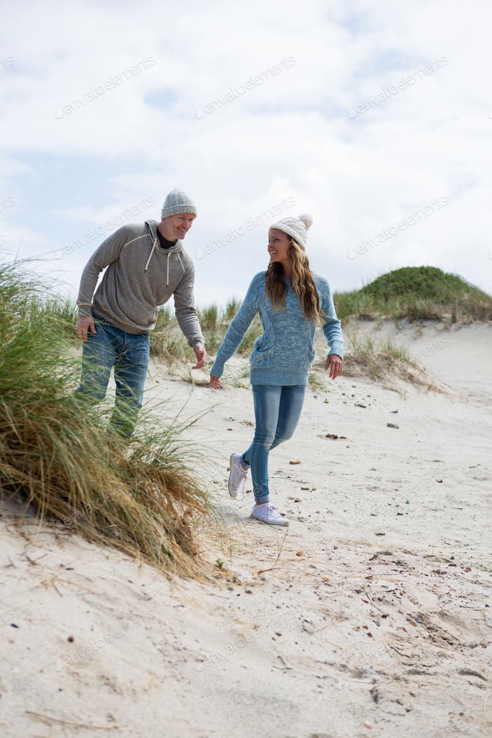 Mature couple enjoying on beach