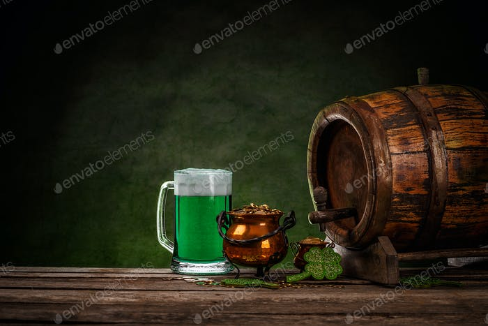 St Patrick's day still life