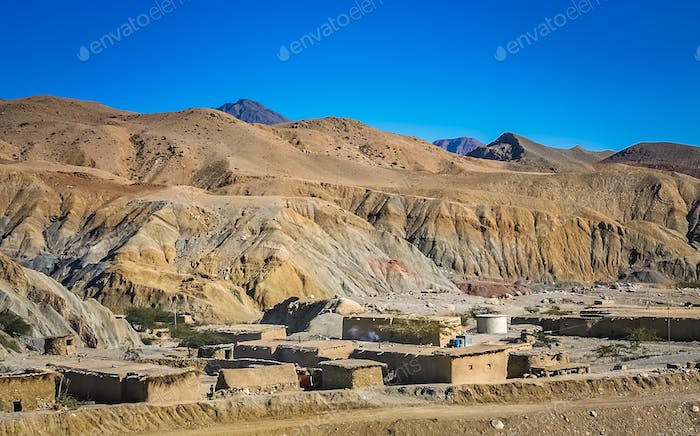 Small poor village in southern Pakistan