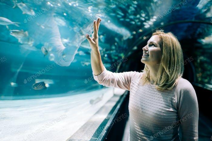 Portrait of women in ocean world