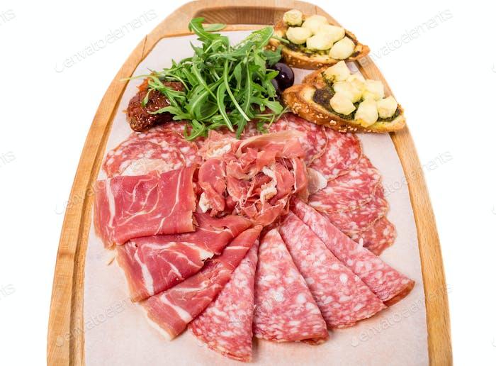 Traditional tuscan antipasto platter.