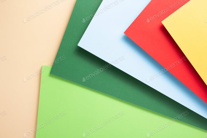 colorful paper as abstract background