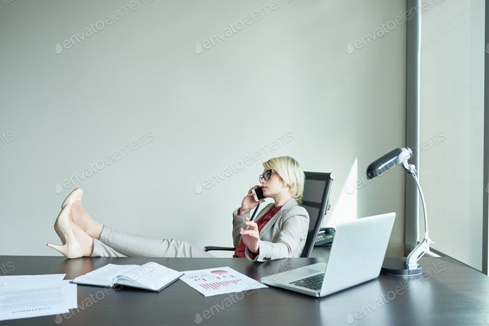 Successful Female Boss in Office