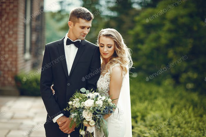Elegant wedding couple