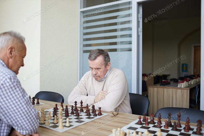 Practicing at chess club