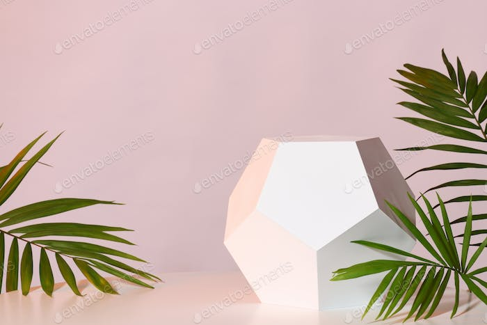 Mockup with geometric stand
