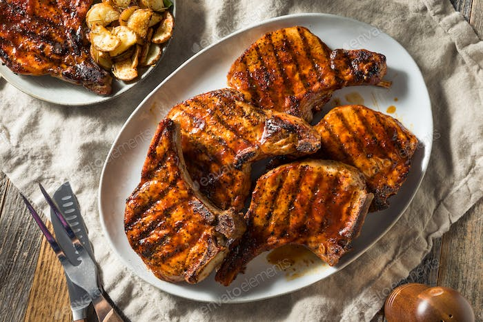 Homemade Barbecue Pork Chops