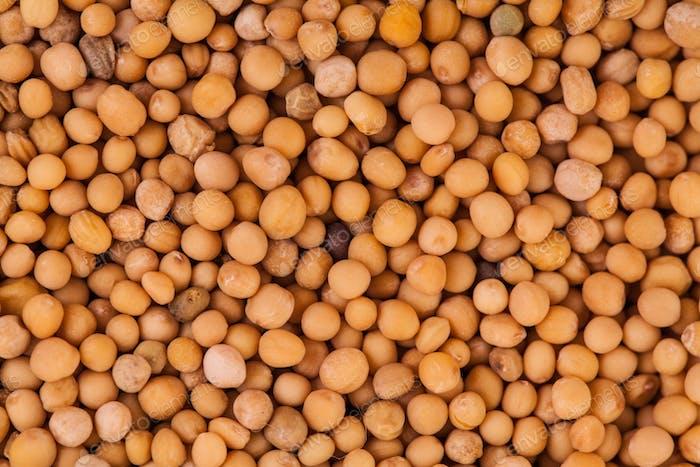 Macro Texture of Beige Peas