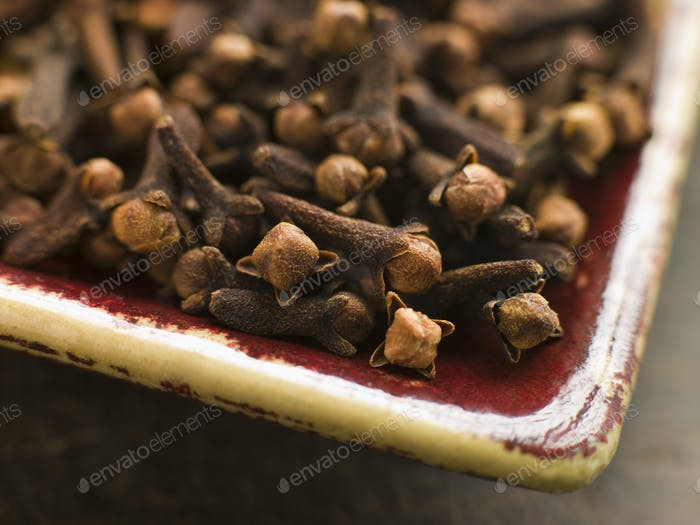 Plate of Whole Cloves
