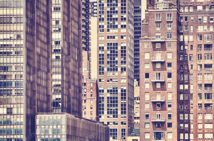 Vintage toned picture of the New York architecture.