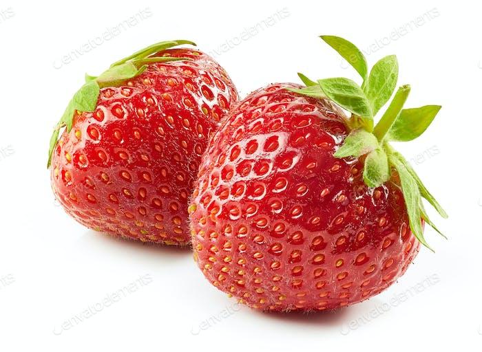 frische rote Erdbeeren