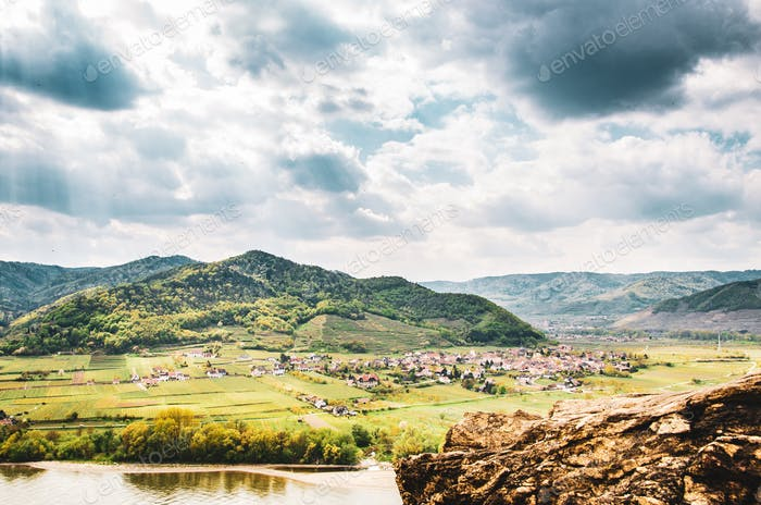 Durnstein and famous Danube river