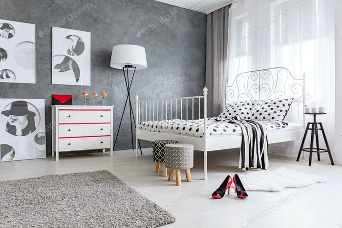 Bedroom designed for woman