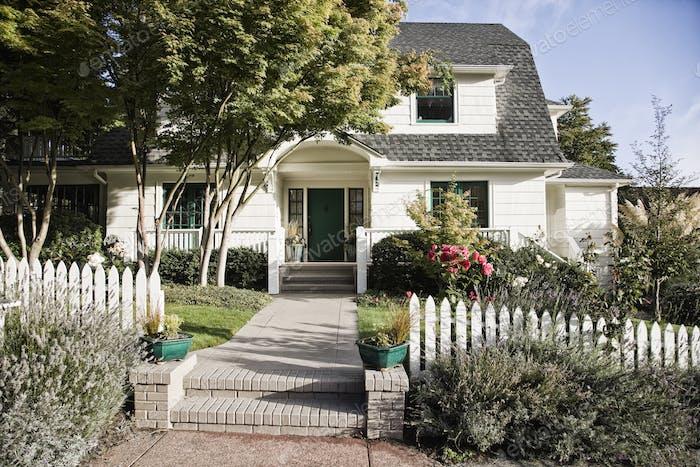 Remodeled older style home exterior