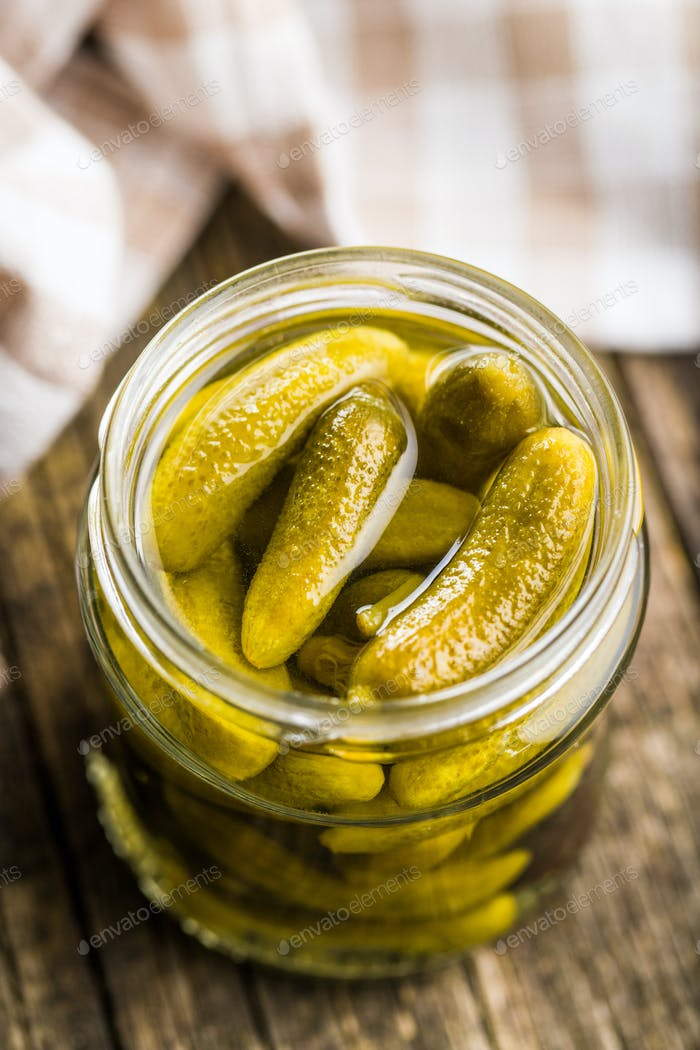 Pickles. Preserved cucumbers.