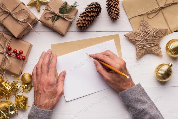 Frohe Weihnachten Grußkarte mit Platz für Text