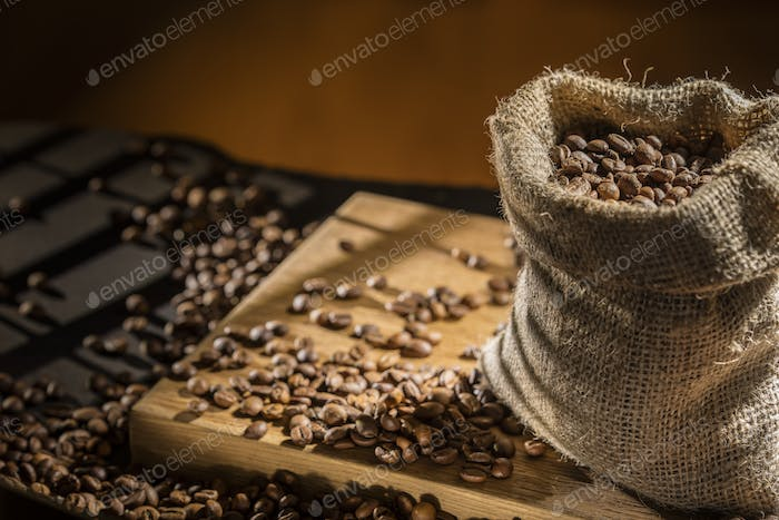 coffee beans in bag