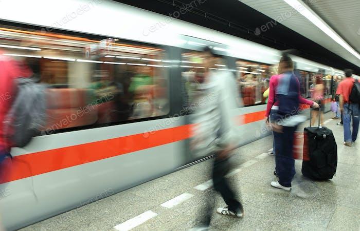 Underground - people in the subway