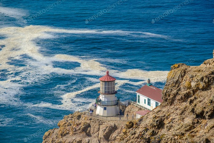 Point Reyes Lighthouse at Pacific coast, built in 1870