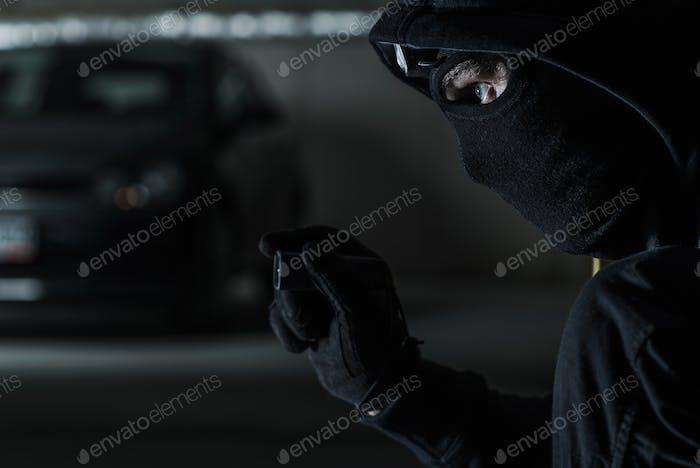 Auto-Diebstahl-Konzept