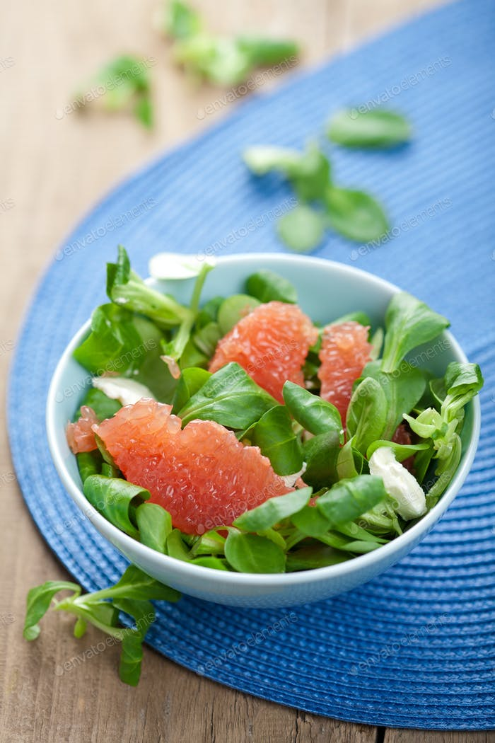 fresh salad with grapefruit
