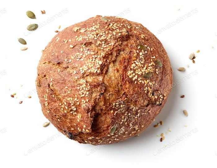 freshly baked bread loaf