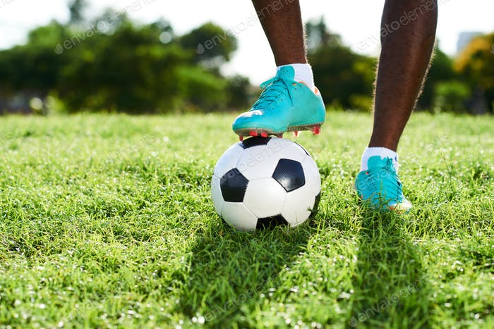 Legs of Professional Soccer Player