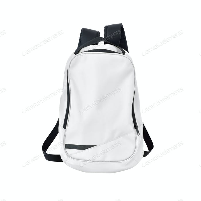 School bag white