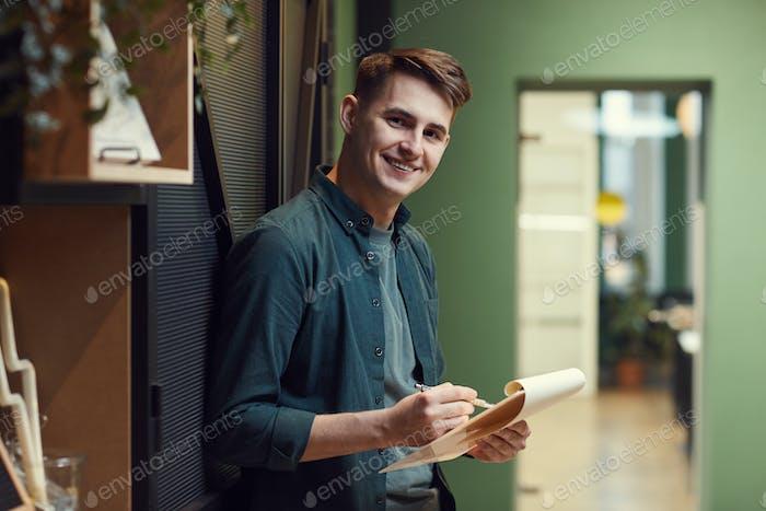 Man examining contract