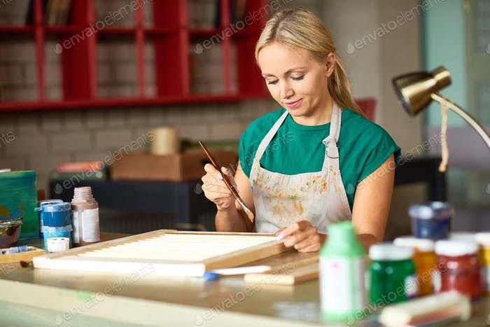 Young Woman Painting DIY Project