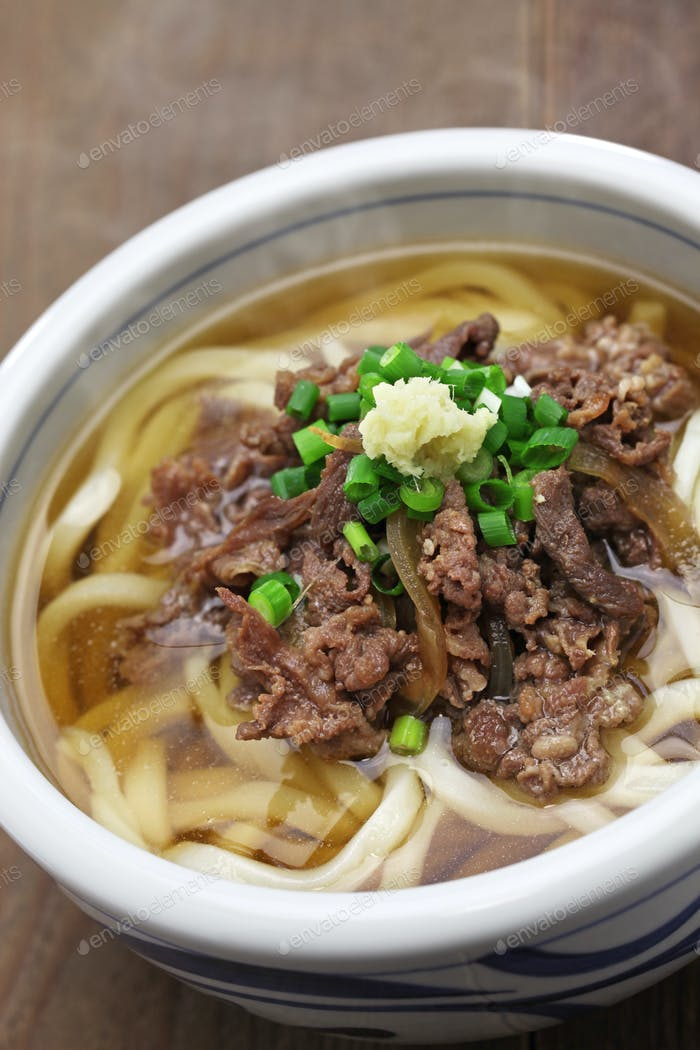 niku udon, japanese meat noodle