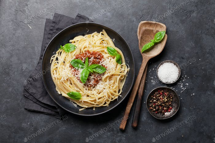 Spaghetti bolognese pasta