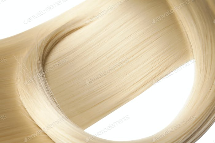 Closeup on luxurious glossy blonde hair
