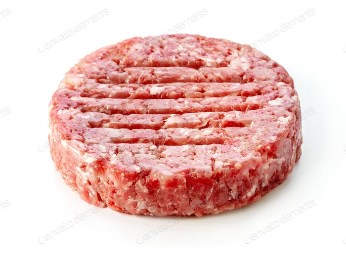 raw burger minced meat