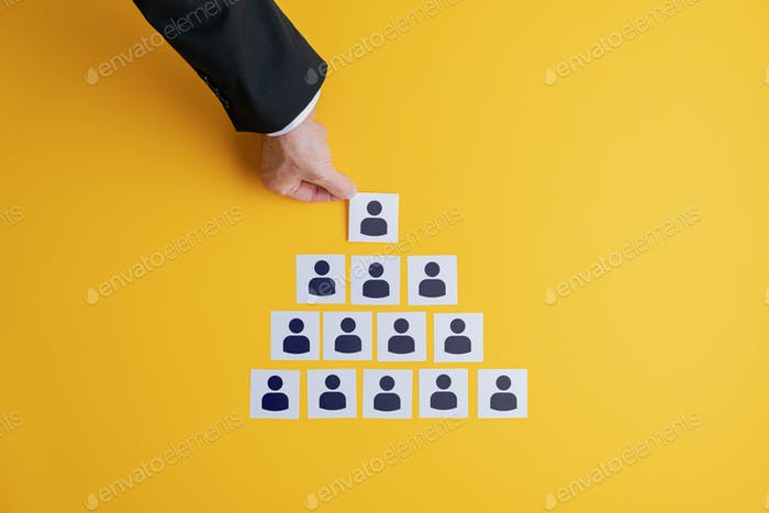 Conceptual image of business hierarchy