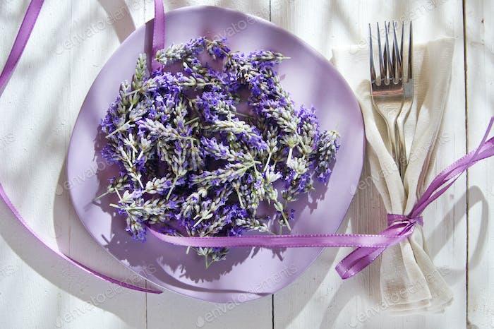 Presentation of lavender flower
