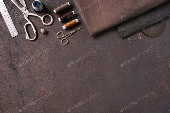 Brown Sewing Background