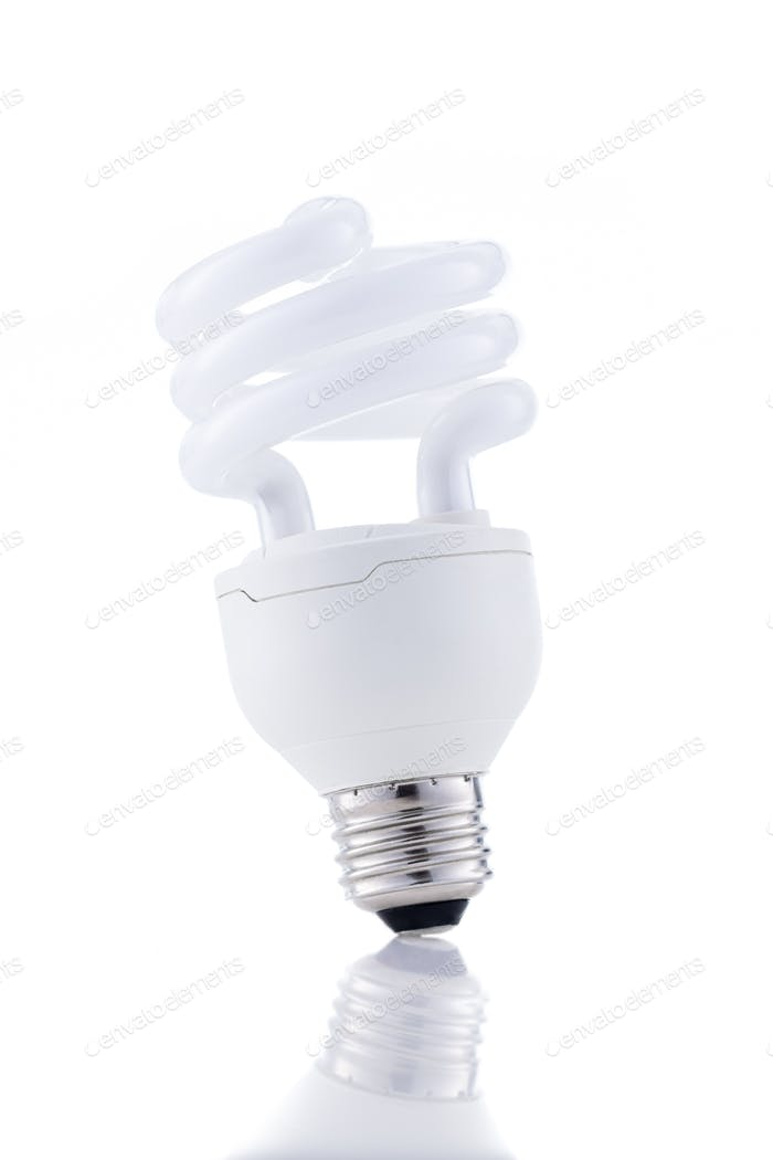 Energy saving light-bulb isolated on white background