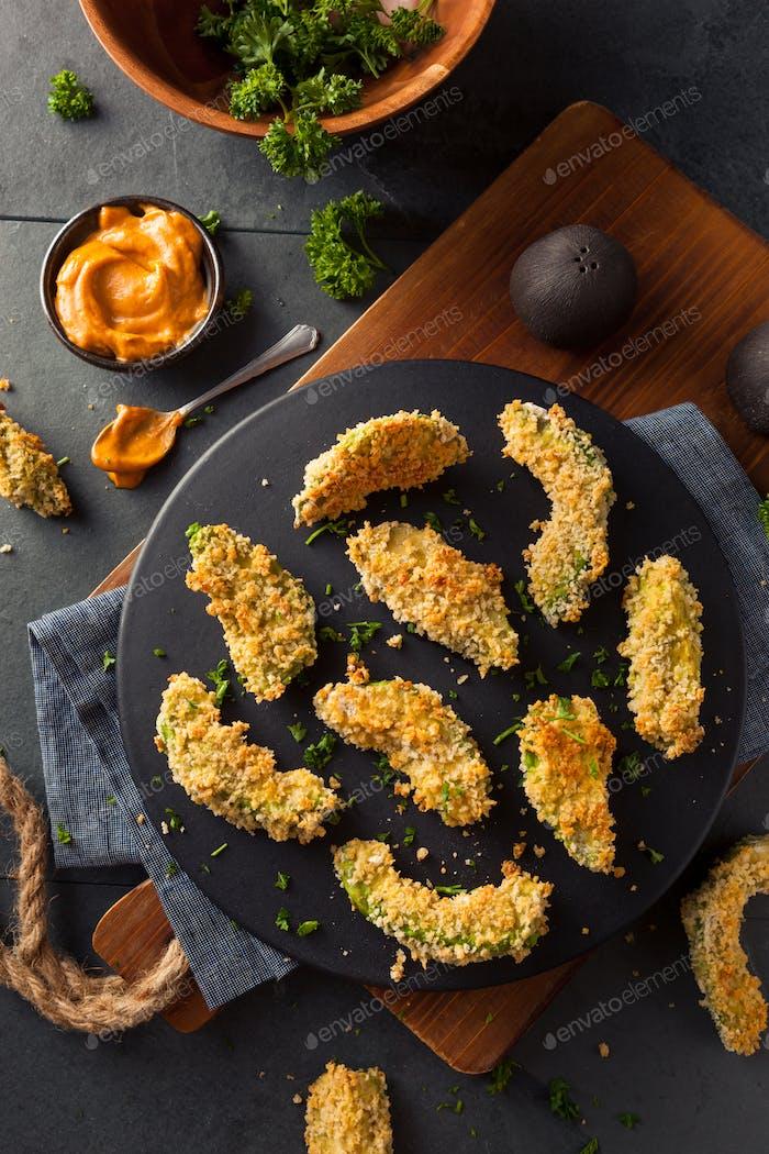 Homemade Breaded Fried Avocado Fries