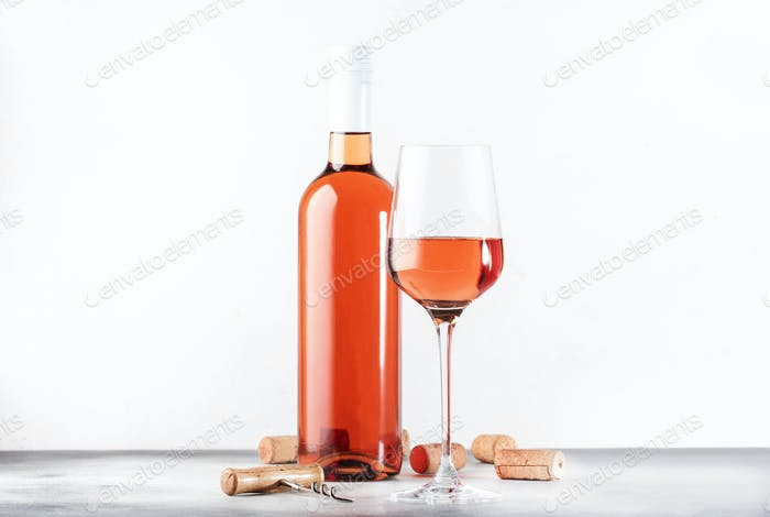 Pink rosado, rosato or blush wine tasting in wineshop