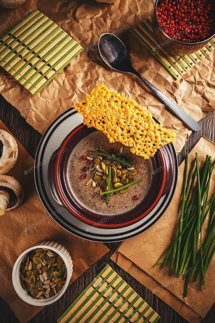 Champignon mushroom cream soup