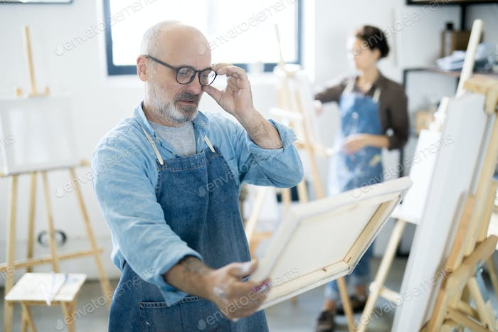 Man with painting