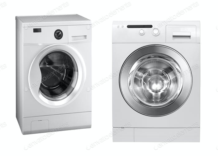 washing machines isolated on white