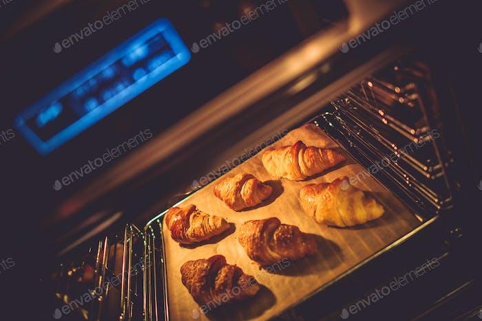 Croissant Oven Baking