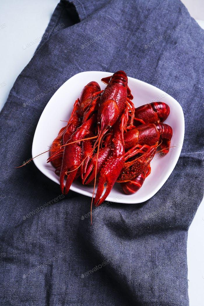 Delicious crayfish